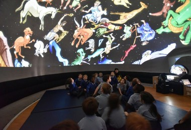 Year 1 planetarium day in Pre-Prep