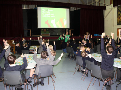 Prep school pupils in nspcc workshop