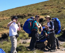 Gold DofE expedition 2018 students hiking