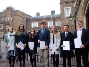 DofE Gold recipients at Buckingham Palace