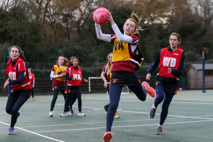 Young House girl in Senior School House Netball 2019