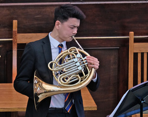Dan playing French Horn in United Reformed Church