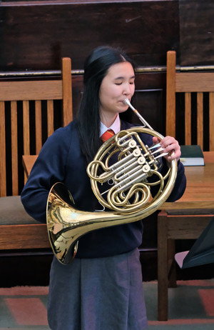 Emma on French Horn at United Reformed Church