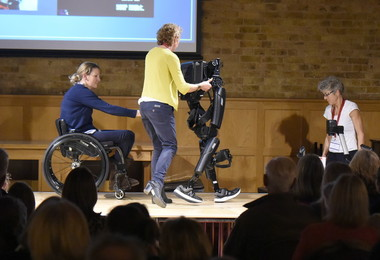 Claire Lomas at Festival of Literature with robot suit
