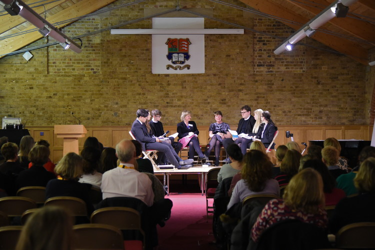 6th Form English students with Fiona Barton Festival of Literature