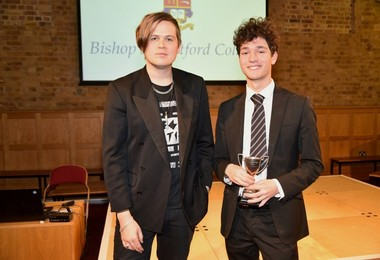 Josh with Luke Wright at Literature Live 2019