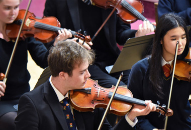 Violinists on first night of Festival of Literature 2019