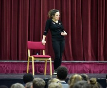 Debs Newbold with L3 & U3 Festival of Literature 2019