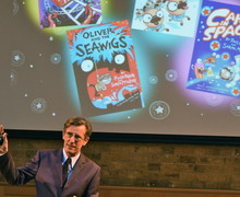 Philip Reeve with L3 & U3 during Festival of Literature 2019