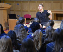 Luke Wright with L5th PSHE Festival of Literature 2019