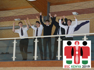 Sixth formers cheering on kenya swimmers