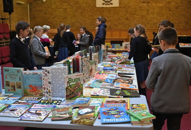 Prep School pupils enjoying book fair 2019