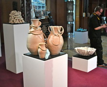 Pottery on display in Mem Hall 2019
