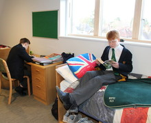 RPH boys relaxing in boarding bedroom