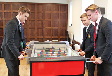 Rph boys playing table football