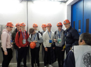 Upper 6th Physicists on CERN tour Jan 2019