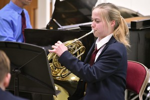 Horn Player in 4th Form Recital Feb 19