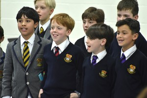 Choir performing in Form 1 Concert Feb 19