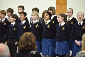 Choir in Form 1 Concert February 19