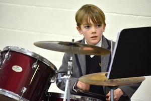 Drummer in Form 1 Concert Feb 19