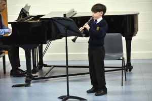 Prep School musician performing in Form 1 Concert Feb 19