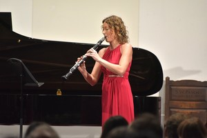 Charys Green on Clarinet in Vela Ensemble at the College