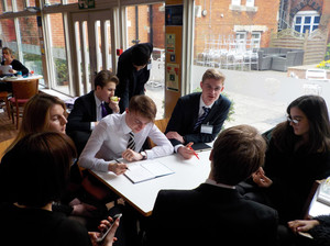 College pupils at Felsted for Model UN 2019