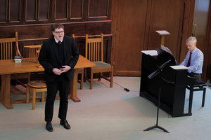 Harry singing in United Reformed Church Recital