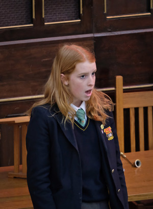 Holly singing in United Reformed Church Recital