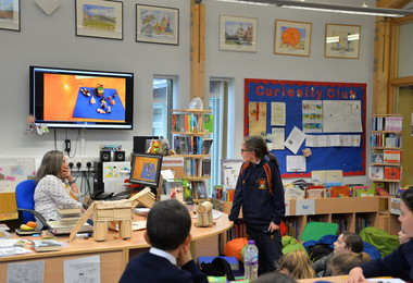 Form 2 present Curiosity Club Projects in Prep School Library