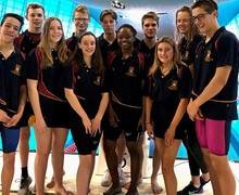 College swimming squad at london aquatic centre