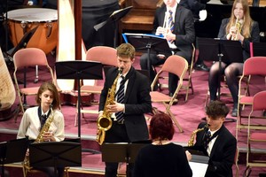 Saxophone player in Ensemble Concert 2019