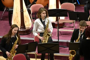 Senior School saxophonists in Ensemble Concert 2019
