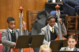 Prep School musicians performing in Ensemble Concert 2019