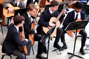 Guitarists perform in United Reformed Church