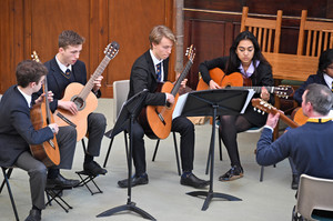 Guitar performance in united reformed church march 19