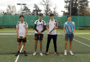 U19 Boys Ace it to Round 3 of Tennis Championships