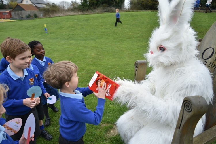 Easter Bunny in the Pre-Prep March 2019