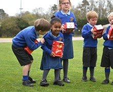 Pre-Prep pupils enjoy visit by Easter Bunny