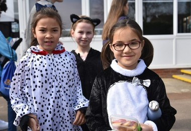 Prep School pupils dressed up for Spring Charity Day