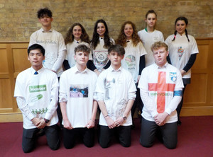 Lower 5th Pupils with Charity Enterprise T Shirts