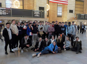 6th form econ business students at grand central