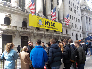 6th form students outside nyce on trip to nyc