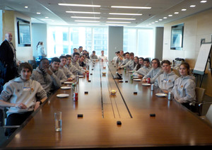 Business econ students at morgan stanley in nyc