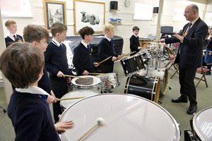 Drumming in Prep School Instrumental Recital March 19