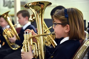 Prep School Girl in informal Instrumental Recital March 19