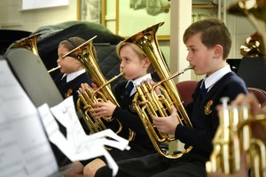 Prep School tuba players in Instrumental Recital