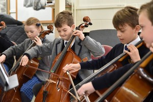 Cellists play in Prep School instrumental recital 2019