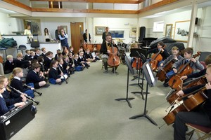 Recital room for Prep School instrumental recital March 19