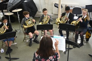 Prep School French Horn players in Recital Room 2019